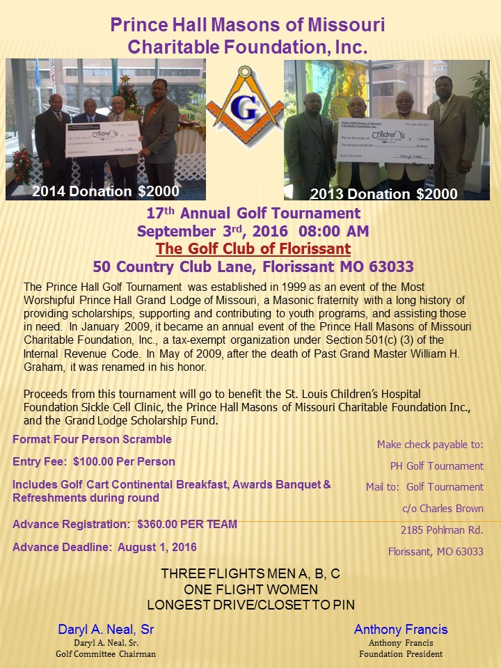 PH Masons Charitable Foundation Memorial Golf Tournament